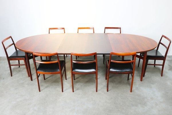 Rosewood dining room set Model 212 & Model 430 by Arne Vodder for Sibast, 1950s