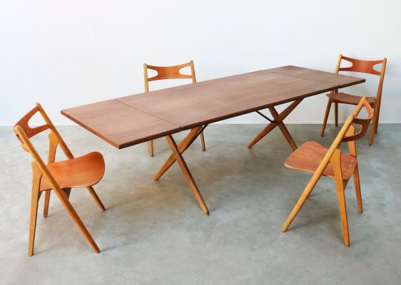 Dining room set Model CH29 & AT-309 by Hans J. Wegner for Andreas Tuck, 1950