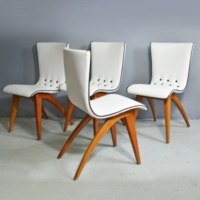 Set of 4 Swing chairs by G. van Os
