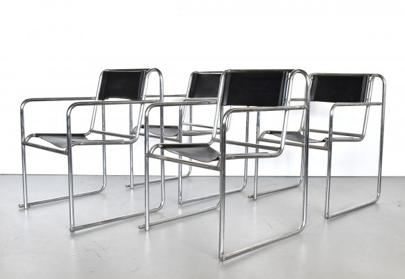 Set of 4 'RP-7' Bauhaus chairs by Bruno Pollak for PEL Oldbury, 1932