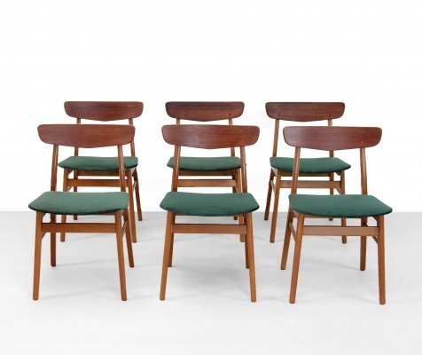 Set of 6 Farstrup dining chairs, 1960s