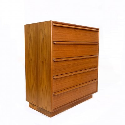 1960s Danish Teak Chest of Drawers by Gasvig Møbler