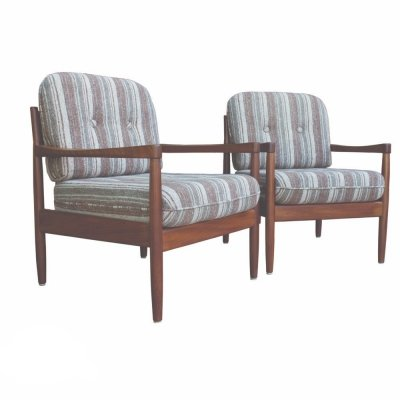 Pair of Danish armchairs in teak, 1970s