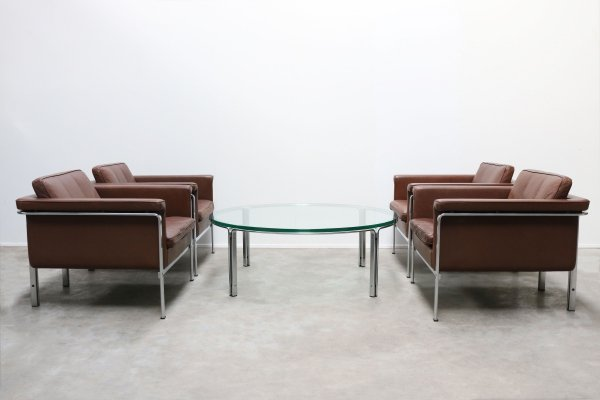 Rare set of Lounge chairs & Coffee table by Horst Bruning for Kill International