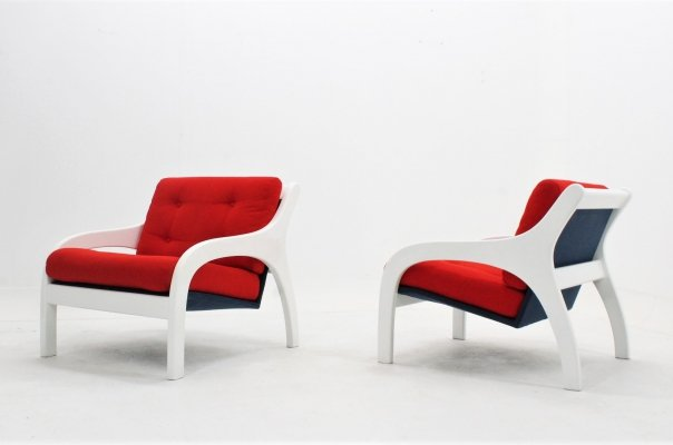 Pair of Vivanda armchairs by Claudio Salocchi for Sormani, 1960s