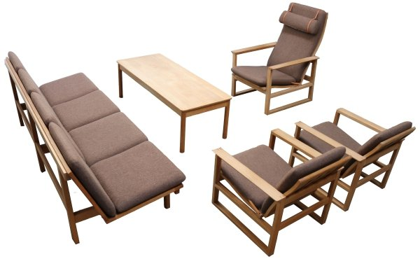 Large Danish seating group / living room set by Borge Mogensen for Fredericia