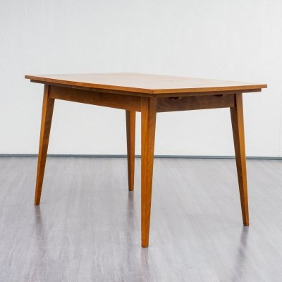 Midcentury shapely dining table in walnut, 1960s