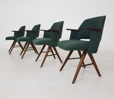 Set of 4 Cees Braakman for Pastoe FT30 Dining Chairs, The Netherlands 1960s