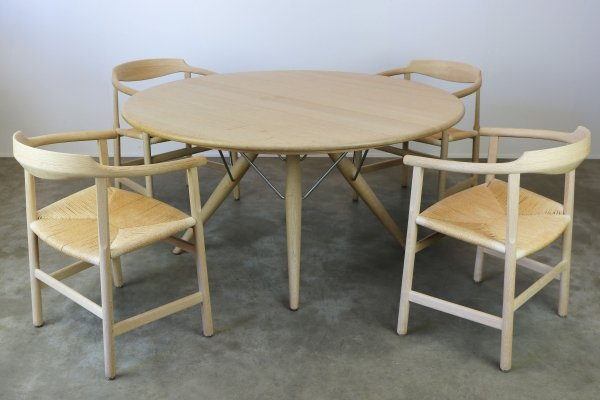 Danish Design oak PP75 & PP205 dining set by Hans J. Wegner for PP Mobler