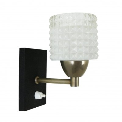 Little wall sconce made of Glass & Chrome, 1960s
