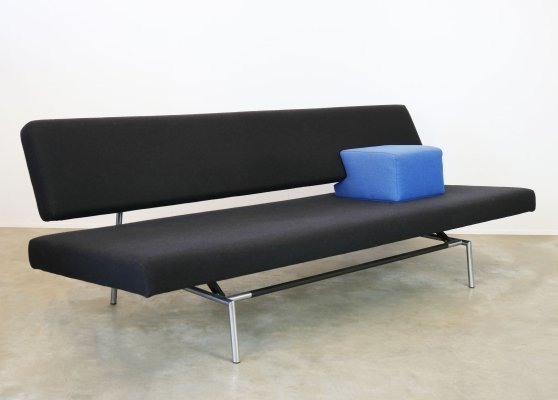 Dutch modernist sofa / daybed BR02 in black by Martin Visser for Specturm, 1960