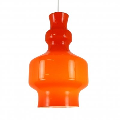 3 x Orange opaline glass 'B-1202' pendant light by Raak Amsterdam, 1968