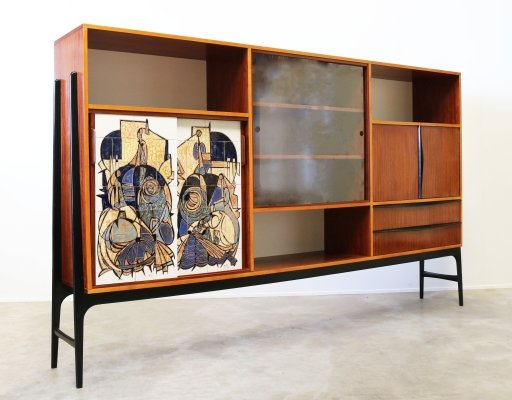 Rare 'Bruxelles Expo' Highboard / Cabinet by Alfred Hendrickx for Belform, 1958