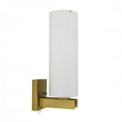 Light bronze & opal glass C-1515/1 wall light by Raak, 1962