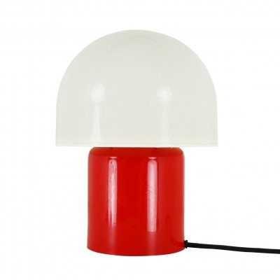 Red & white 'Mushroom' table light by Dijksta Lampen