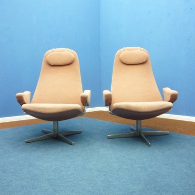 Pair of Contourette chairs by Alf Svensson for Dux, 1960s
