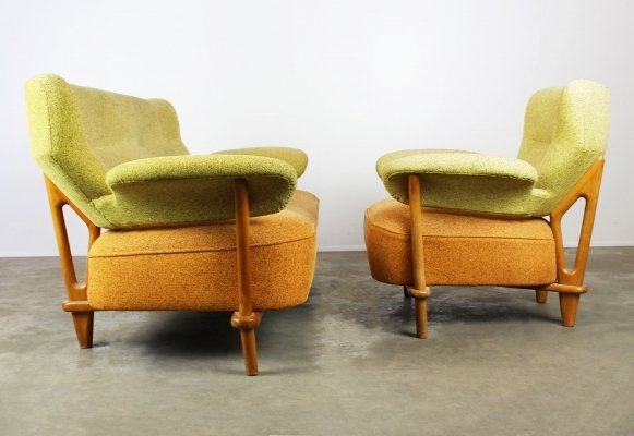 Rare F109 seating group / living room set by Theo Ruth for Artifort, 1950s