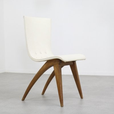 Swing dining chair by G. van Os for Van Os Culemborg, 1940s