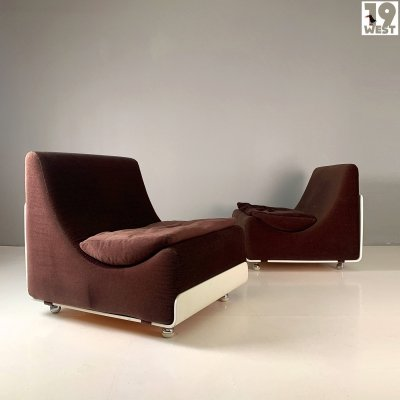 Two space age lounge chairs by Luigi Colani for COR, 1970s
