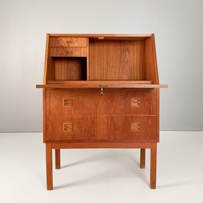 Small Danish teak secretary by Tibergaard, 1960s