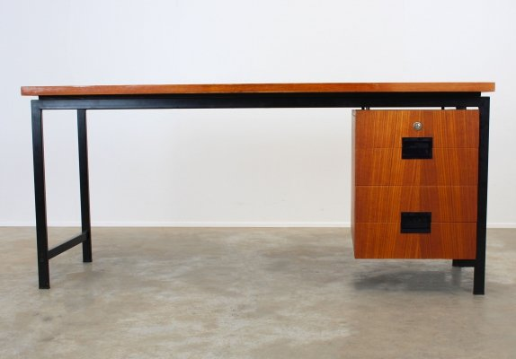 Rare executive EU02 Japanese series desk by Cees Braakman for Pastoe, 1950s