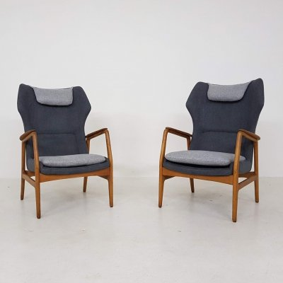Set of 2 lounge chairs 'Edith' by Aksel Bender Madsen for Bovenkamp, 1950s