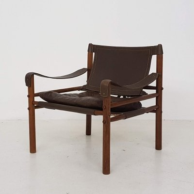 Arne Norell Sirocco leather lounge chair for Scanform, Colombia