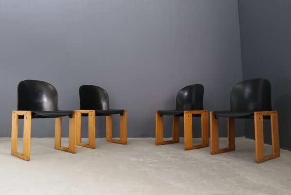 Set of 4 'Afra' chairs by Tobia Scarpa for B & B Italy