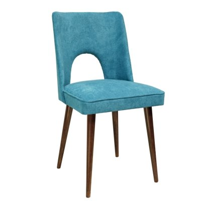 Blue upholstered chair, 1970s