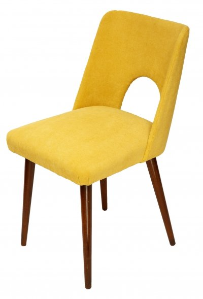 Yellow upholstered chair, 1970s