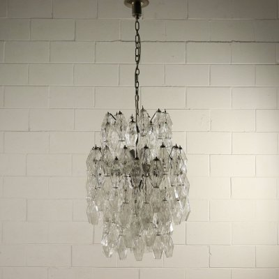 Chandelier Poliedro by Carlo Scarpa for Venini