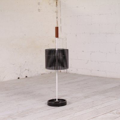 Vintage black & white umbrella stand, 1960s
