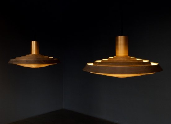 Pair of PH Plate (PH Tallerken) hanging lamps by Poul Henningsen for Louis Poulsen, 1960s