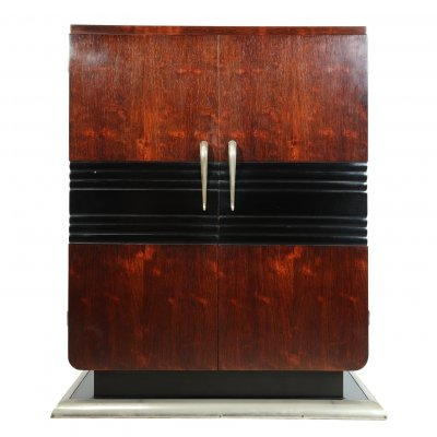 French Art Deco Rosewood Cocktail Cabinet, c1930