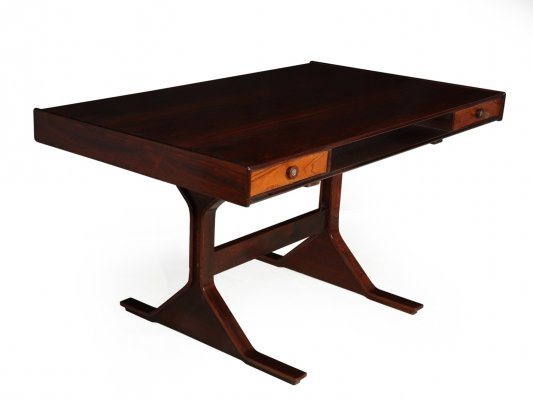 Mid Century Desk in Rosewood by Gianfranco Frattini for Bernini, 1957