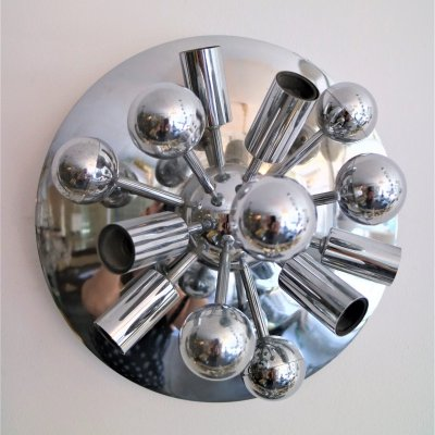 60ies Sputnik chrome wall lamp