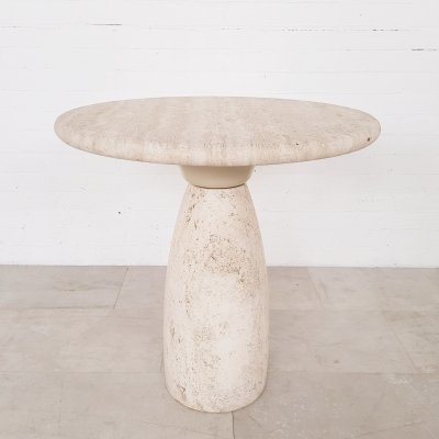 Peter Draenert limited edition travertine side table, 1970s