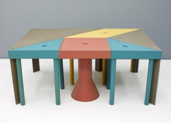 Set of Six Tangram Tables by Massimo Morozzi for Cassina, 1983