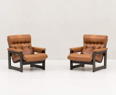 Set easy chairs produced in the Netherlands, 1970s