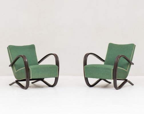 Two armchairs by Jindrich Halabala, Czech Repbublic 1930s