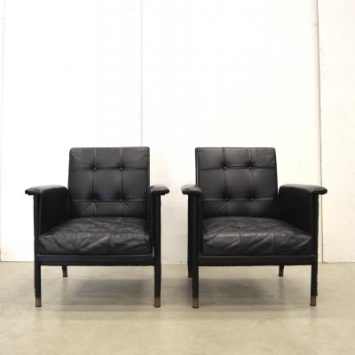 2 x Jacques Quinet arm chair, 1960s