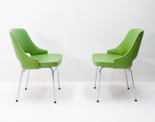 Pair of FM32 dining chairs by Cees Braakman for Pastoe, 1950s