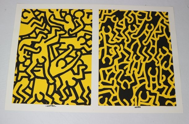 Special Edition Poster by Keith Haring 'Playboy KH86', 1990