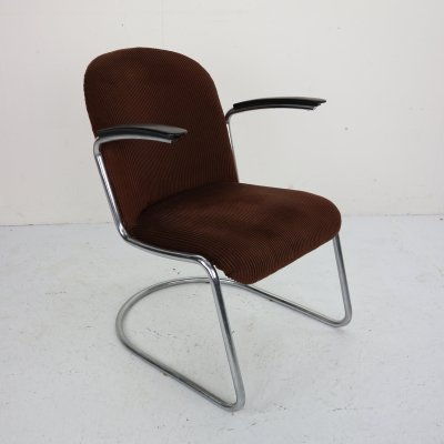 W.H. Gispen M-413 Easy Lounge Chair by Gispen Culemborg, Dutch Design 1953
