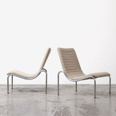 Kho Liang Ie Pair of Lounge Chairs for Stabin, 1960s