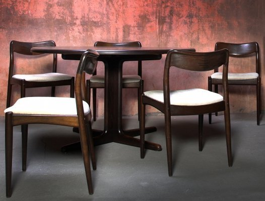 Dining set by Johannes Andersen for Uldum Møbelfabrik, 1960s