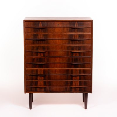 Vintage large Danish chest of drawers in rosewood, 1960's