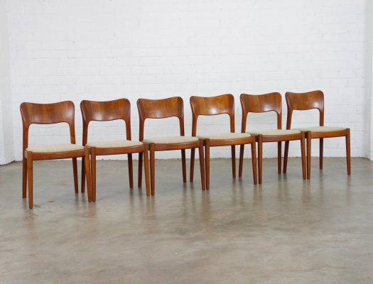 Set of 6 dining chairs by Niels Koefoed for Hornslet Møbelfabrik, 1960s