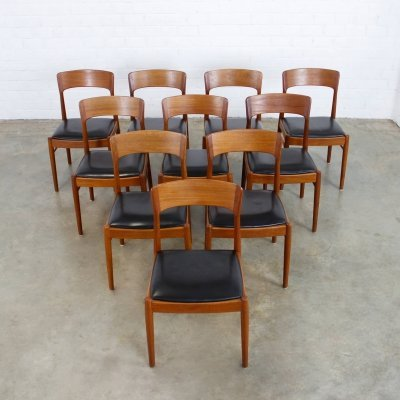 Set of 10 dining chairs by Kai Kristiansen for KS Møbler, 1960s