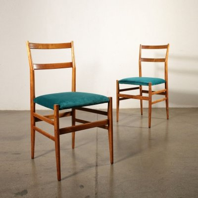 Two 'Leggera' Chairs by Gio Ponti for Cassina
